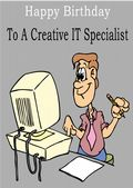 I T Specialist - Greeting Card